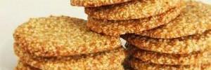 Кунжутно-овсяное печенье без муки