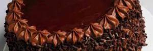 Шоколадный торт с лимонным кремом из манки