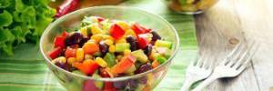 Как приготовить постный салат из фасоли
