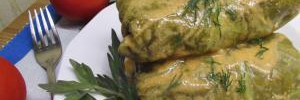 Голубцы в пикантном соусе с пивом