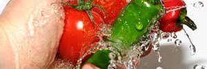 Каксмыть химию смагазинных фруктов иовощей