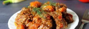 Как приготовить тушеную говядину в соке красной смородины